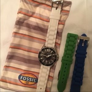 Fossil Watch with Switchable Silicon Straps